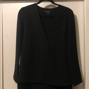 French Connection Black Long Sleeve Top